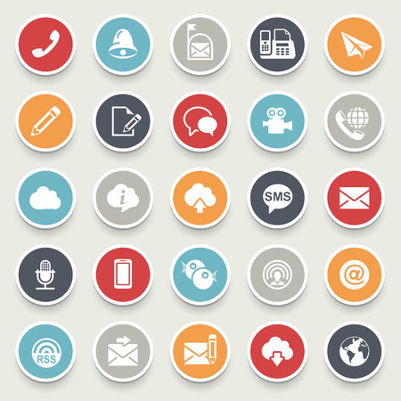 internet icons: Communication icons. Illustration