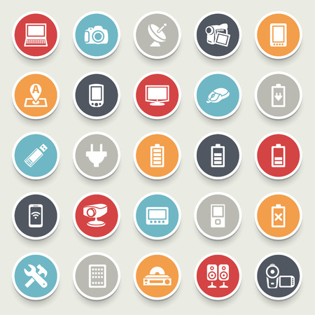 acoustic systems: Electronics vector icons for websites.
