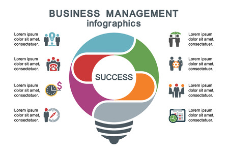employment issues: Business management. Template for infographics.