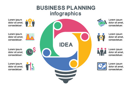 business planning: Business planning. Template for infographics.