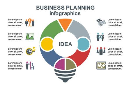 planificacion: Planificaci�n empresarial. Plantilla para la infograf�a. Vectores