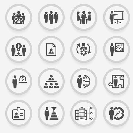 Zestaw ikon dla stron internetowych, przewodników, broszur.
