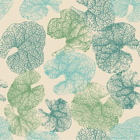 earth tone: Seamless earth tone leaf pattern.