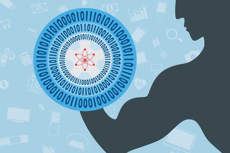 Big data concept. Illustration