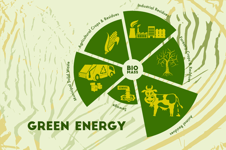 world agricultural: Save environment and green energy concept. Alternative way of producing power using biomass technology.