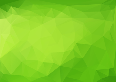 Polygonal abstract with green gradient shading background.