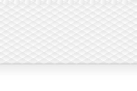 Background of clean and clear white simple pattern. Hexagon shape and circle shading repeated with empty label at the bottom.