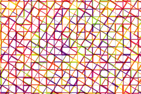 Abstract background of colorful stripe and square shape cross together. Illustration