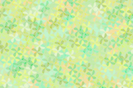 Abstract background of green tone flower shape cross and blend together. Ilustrace