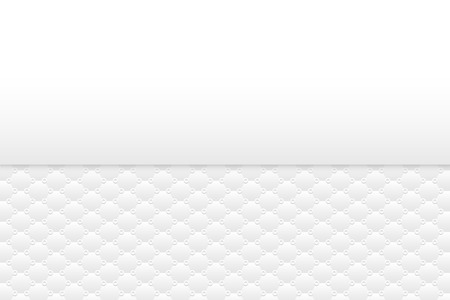 Background of clean and clear white simple pattern. Hexagon shape and circle shading separated with empty space.