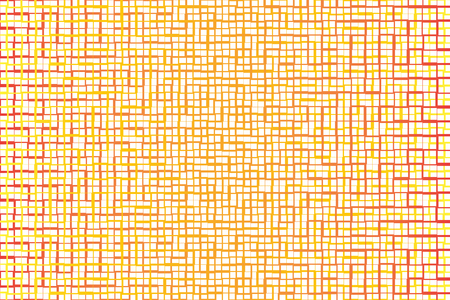 Abstract background of orange tone stripe and square shape cross together. Ilustrace