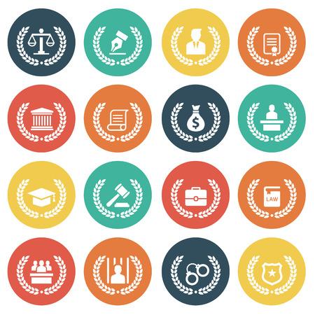 DERECHO: Icono de la Ley Vectores