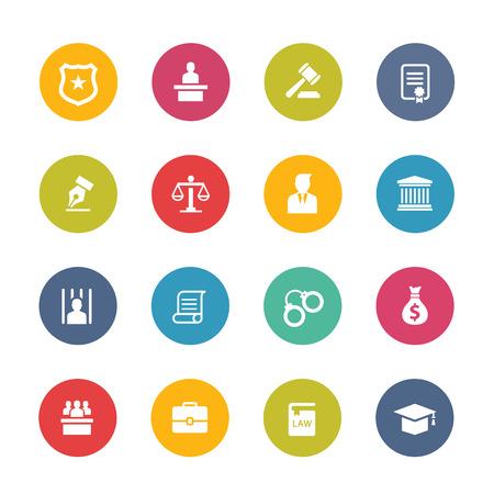 justicia: Icono de la Ley Vectores