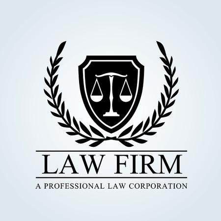 ley: El bufete de abogados logo Vectores