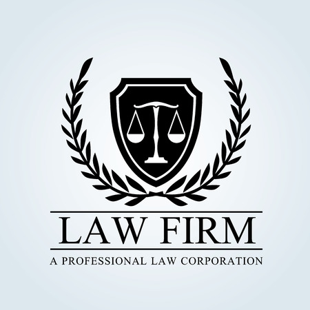 law office: Law firm logo Illustration