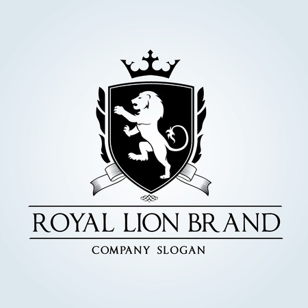 lion king: Luxury Vintage logo