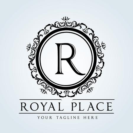king: Logotipo de lujo de la vendimia