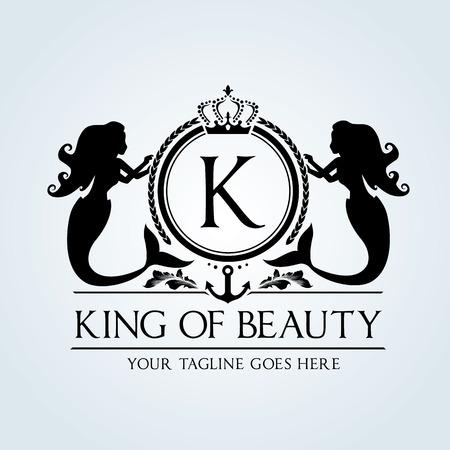 corona real: Logotipo de lujo de la vendimia