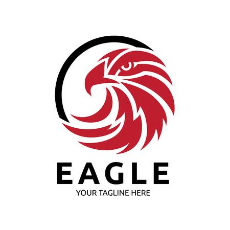 Vogel, adelaar, vector sjabloon Stock Illustratie