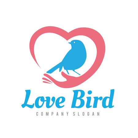love icon: Bird ,eagle ,vector  template