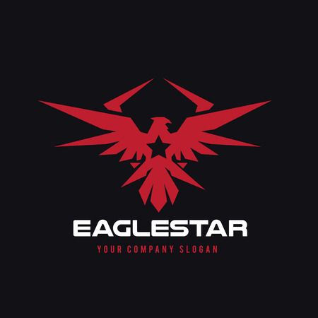 Eagle  ,brid  ,animal  ,vector   template Illustration