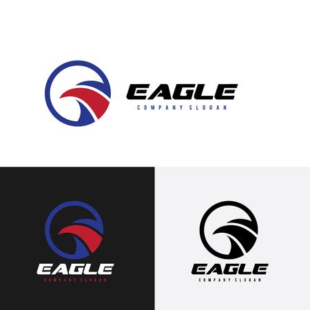 patriotic eagle: bird template vector