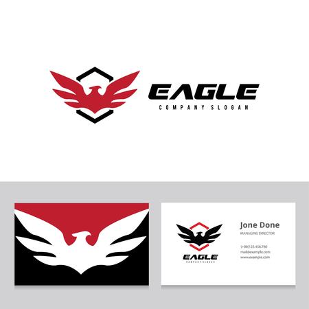 eagle shield: Bird vector template