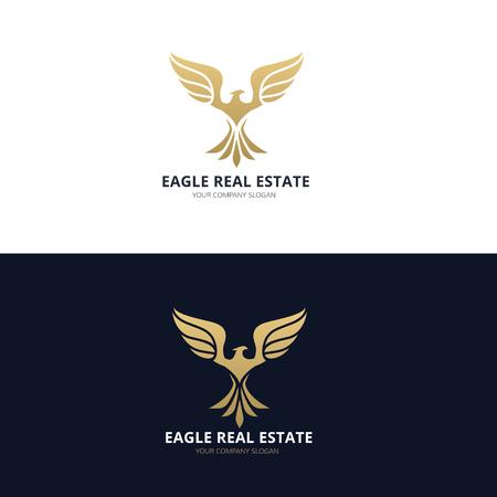 eagle silhouette: Vogel-Vektor-Vorlage