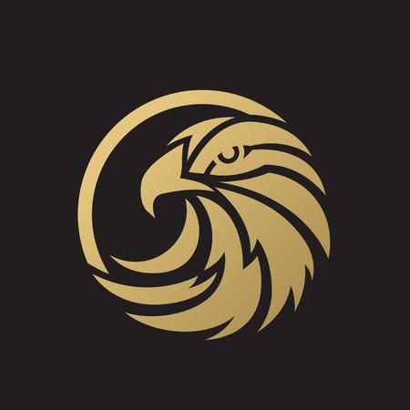 halcones: plantilla vector del pájaro