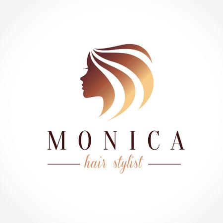 long hair model: Beauty logo,tree logo,Feminine Logo,vector logo template