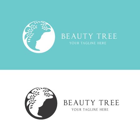 tree logo: Beauty logo,tree logo,Feminine Logo,vector logo template