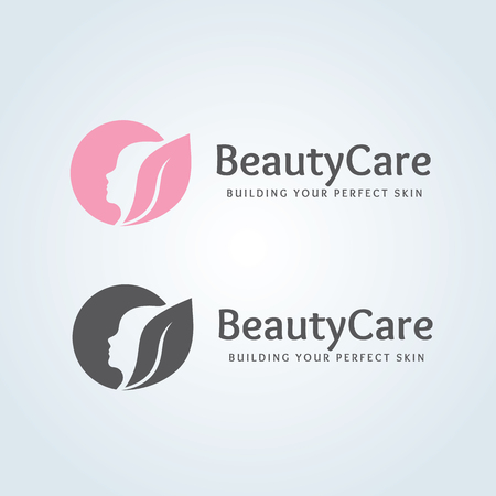Beauty care logo,spa logo,vector logo template 矢量图像