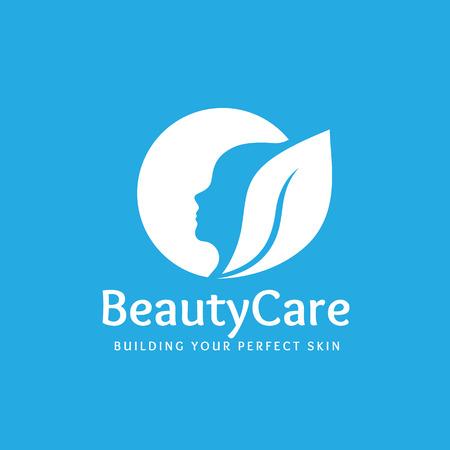 beauty care: Beauty care logo,spa logo,vector logo template Illustration