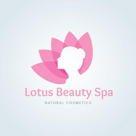 Lotus logo, Bellezza logo, spa logo, logo vettoriale template
