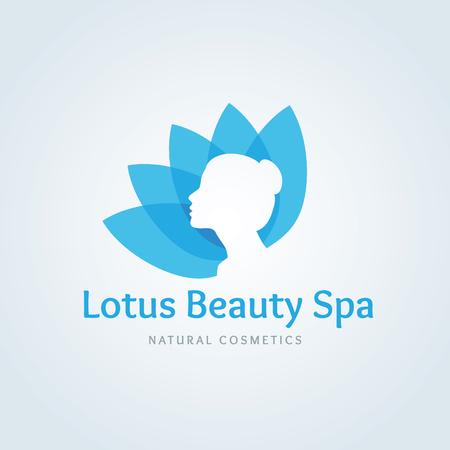 Lotus spa de belleza logotipo, logotipo de Lotus, plantilla vector logo