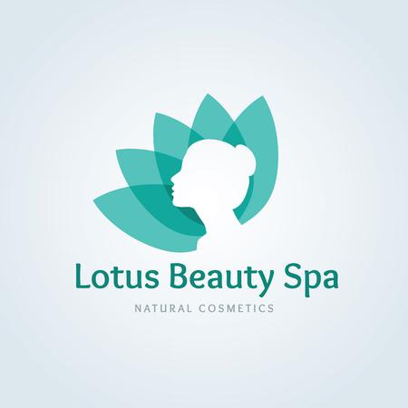beauty model: Lotus beauty spa logo,Lotus  logo,vector logo template