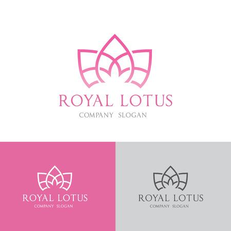 Lotus spa logo,vector logo template Illustration