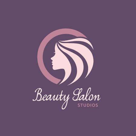 long hair model: Beauty Care logo,Feminine Logo,beauty salon logo,vector logo template