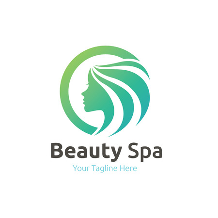 Logo Beauty Care, Femminile Logo, salone di bellezza logo, logo vettoriale template Archivio Fotografico - 52550277