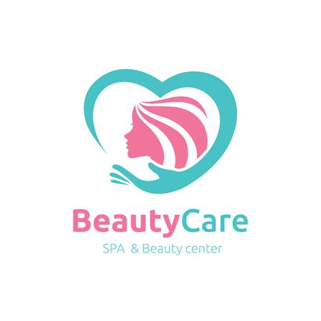 female beauty: Beauty Care logo,Feminine Logo,beauty salon logo,vector logo template