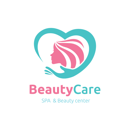 Logo Beauty Care, Femminile Logo, salone di bellezza logo, logo vettoriale template Archivio Fotografico - 52550287