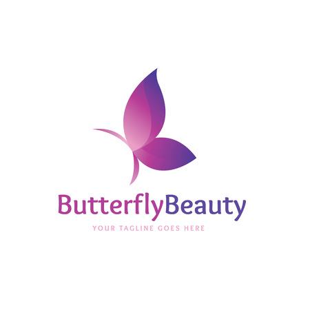 Butterfly logo,vector logo template Vectores
