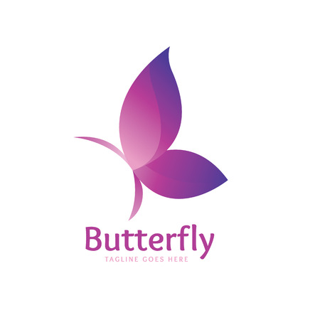 Butterfly logo,vector logo template Vettoriali