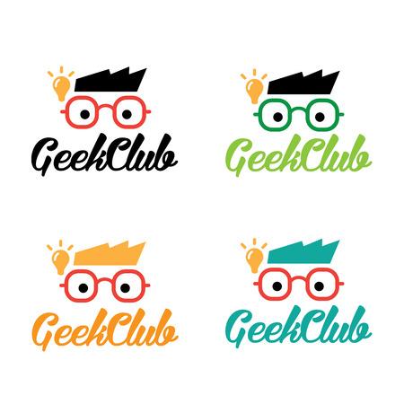 geek: Geek Club logo,geek logo,idea logo,learning logo,vector logo template