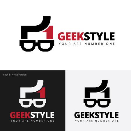 geek: Geek style logo,geek logo,vector logo template