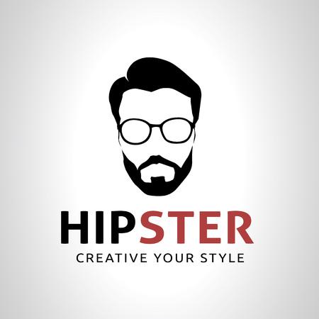 Hipster 로고, 괴짜 로고, 벡터 로고 템플릿