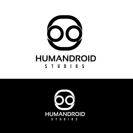 droid: Human droid logo,droid logo,vector logo template