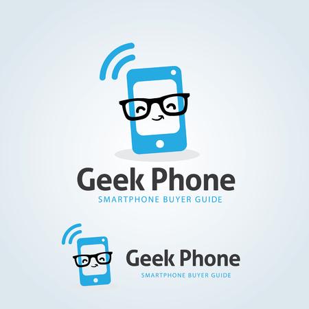 Geek Phone Logo,Smart phone shop logo,Vector logo template