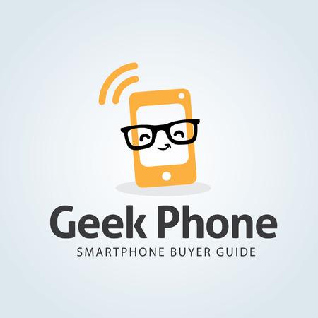 phone logo: Geek Phone Logo,Smart phone shop logo,Vector logo template
