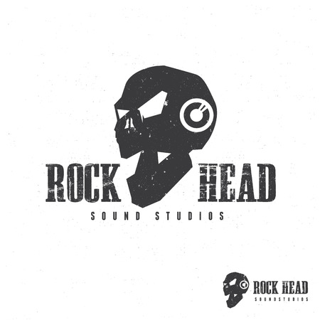 Rock Head And Skull , Sound Template. Royalty Free Cliparts, Vectors ...